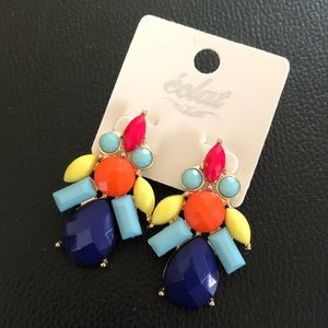 New brightly colored earrings